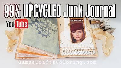 Picture: Junk journal bullet journal flip through video