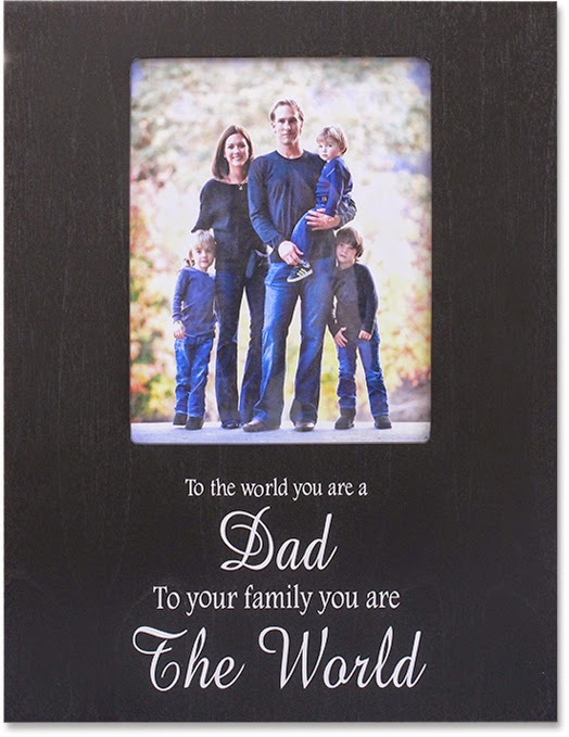 Adhere a vinyl saying to your painted frame - GIFT FOR FATHER'S DAY