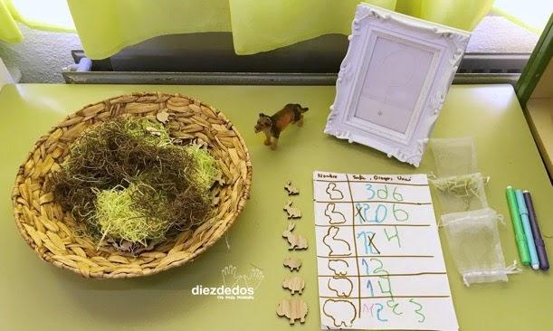 Propuesta matemática del proyecto del bosque en Un proyecto de maestra.