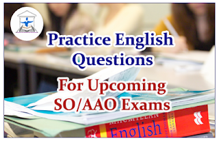 English Questions (Error Spotting) for Upcoming SO/AAO Exams