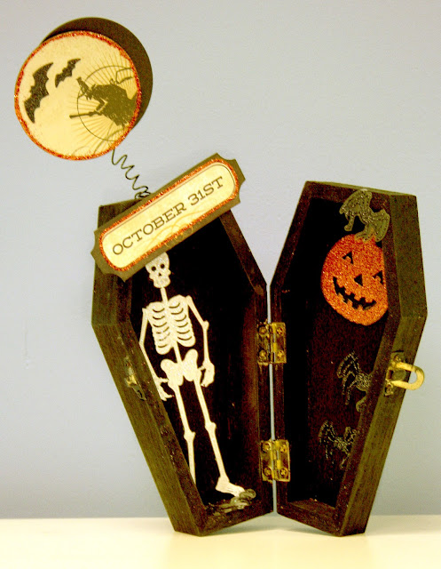 Oh My Crafts Blog: Coffin Box Halloween Decor