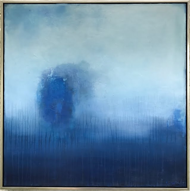 abby kasonik painting blue mysterious object headed your way