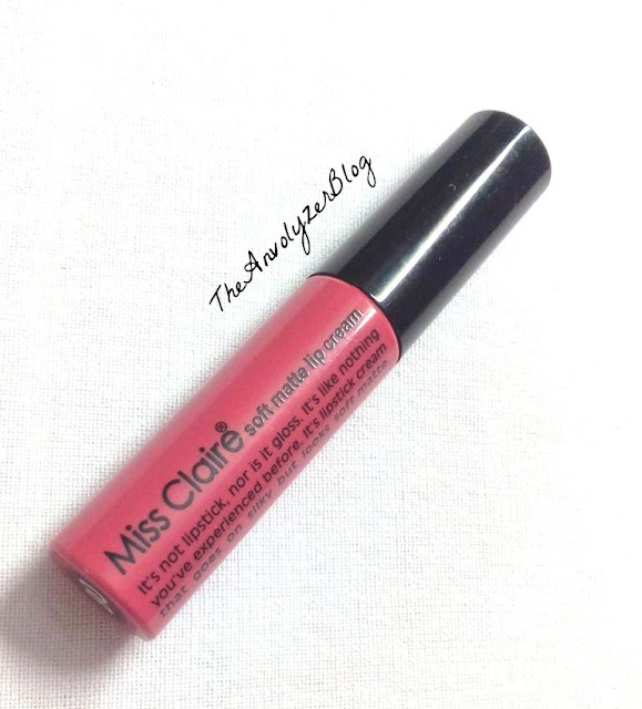 Review Swatches Miss Claire Soft Matte Lip Cream in Shade 08