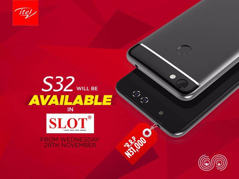 Itel S32 to hit SLOT nationwide exclusively from Wednesday 29th November