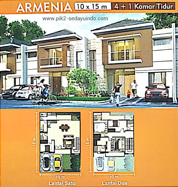 Rumah PIK 2 Dijual Tipe Armenia Cluster Virginia