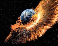 Kıyamet gününü anlatan Dünya'nın patlaması görseli