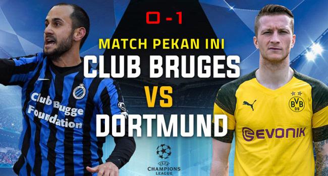 cuplikan gol club brugge vs borussia dortmund 0-1
