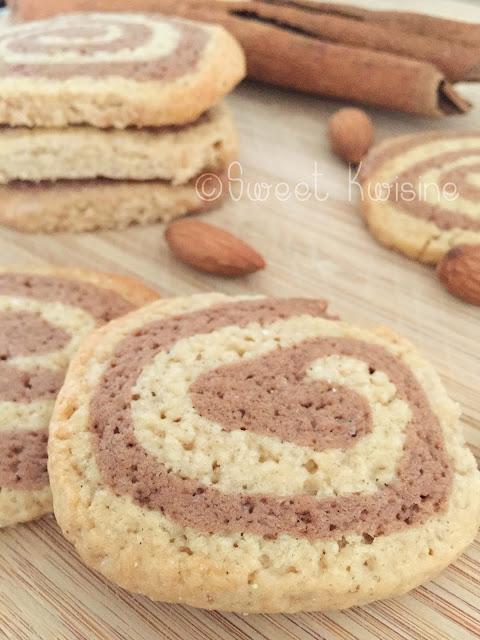 sweet kwisine, sablés, cacao, cannelle, spirale, christophe felder, noel, christmas cookie, bredele
