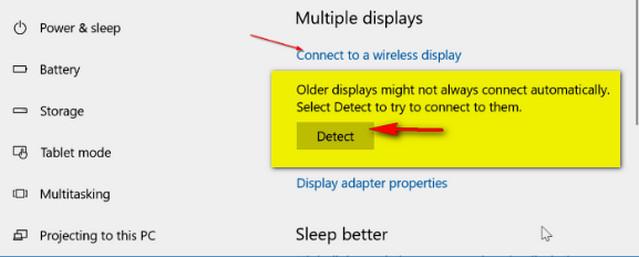 توصيل جهاز كمبيوتر محمول يعمل بنظام ويندوز 10 لاسلكيًا بالتلفزيون
