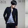 indonesia shop sk11 black blazer jacket korean style
