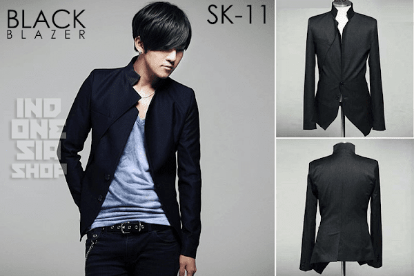 indonesia shop sk11 black blazer jacket korean style