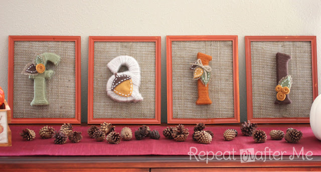 Yarn Wrapped Fall Letters