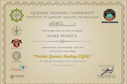 Sertifikasi Praktisi Terapi Ruqyah Nasional dari QHI