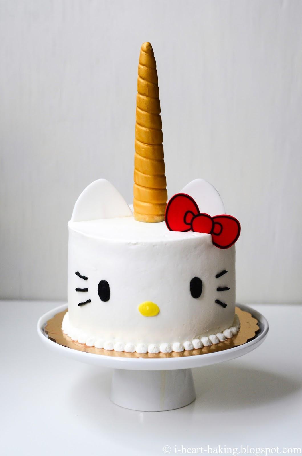 I Heart Baking Hello Kitty Unicorn Cake