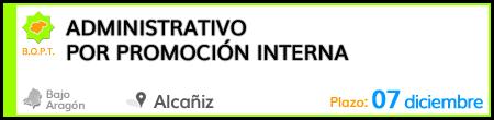 Administrativo por promoción interna en Alcañiz