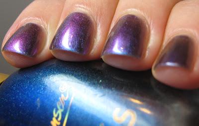 Liesl Loves Pretty Things Sally Hansen Nail Prisms Garnet