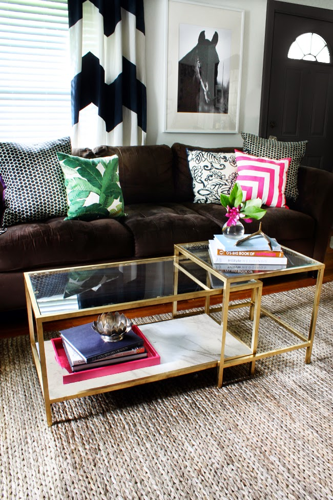 hunted interior ikea coffee table makeover fab rug review. Black Bedroom Furniture Sets. Home Design Ideas