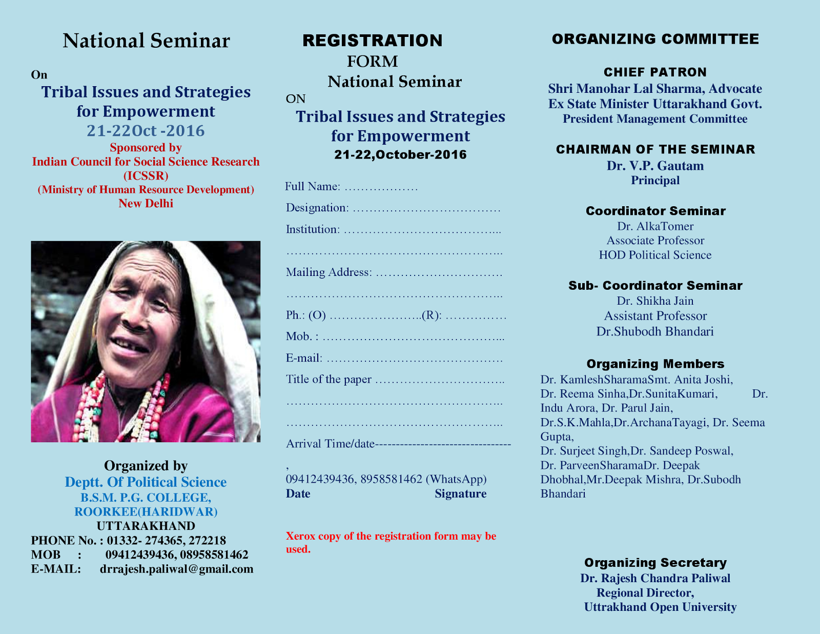 The Social Science Informer: ICSSR Sponsored National Seminar @ BSM