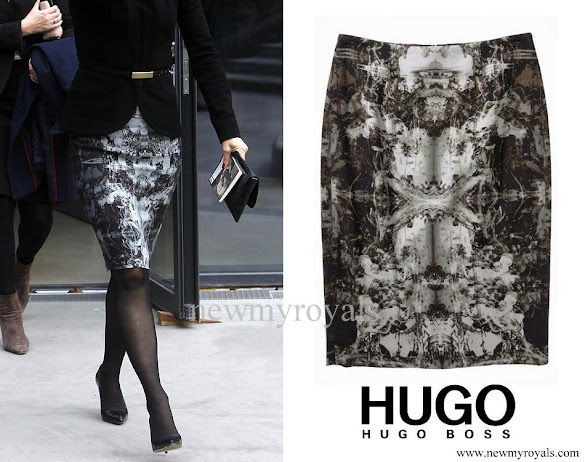 Crown Princess Mary wore Hugo Boss Vinila Pencil Skirt