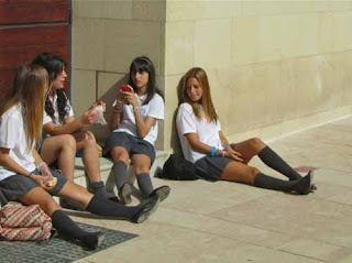 School Girls Malaga Spain