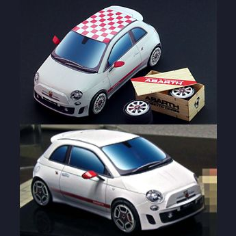 Sports Car Papercraft Abarth 500