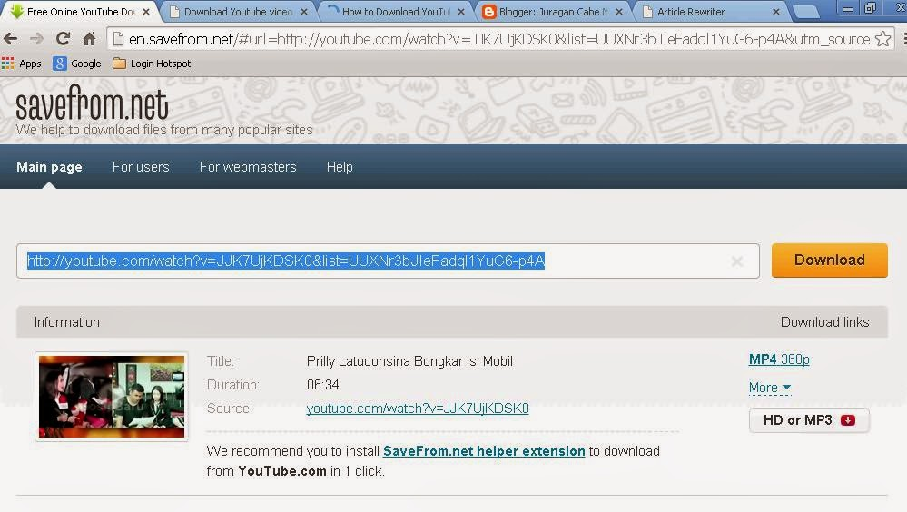 Instead of victimization transfer supporting parcel IDM  How to Download Video from Youtube Without Software