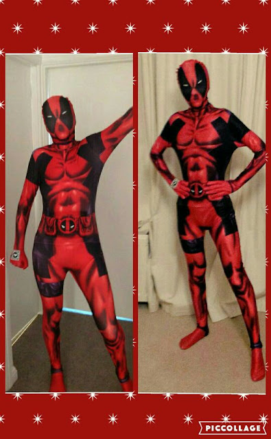 morphsuit fancy dress deadpool