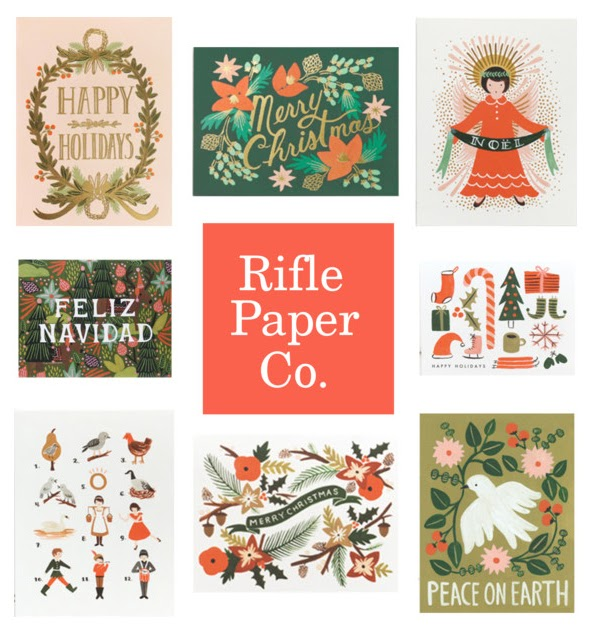 halcyon style holiday cards from rifle paper