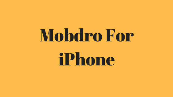 mobdro for iphone