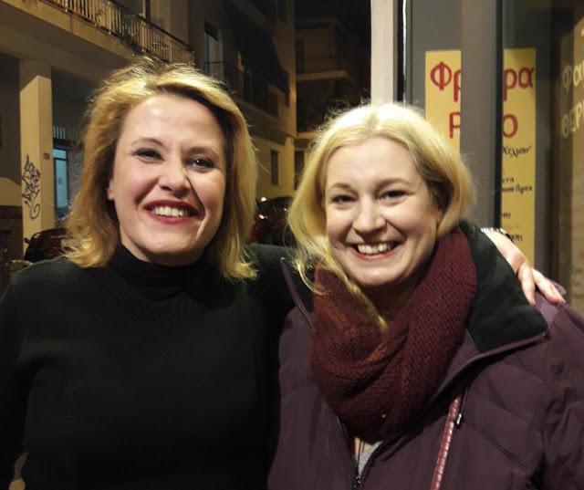 Με την σκηνοθέτη της παράστασης Μαρία Τζανουκάκη