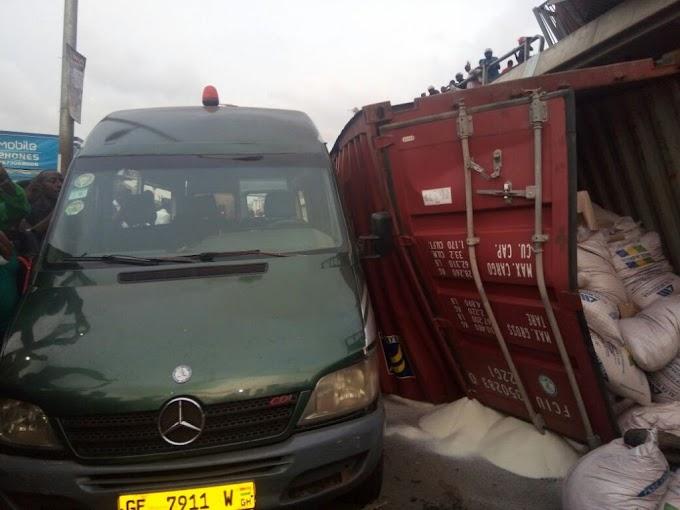 Photos: Cargo truck falls from Circle interchange; several injured