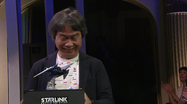 Ubisoft E3 2018 conference StarLink Battle for Atlas Shigeru Miyamoto Arwing Fox McCloud prototype figurines