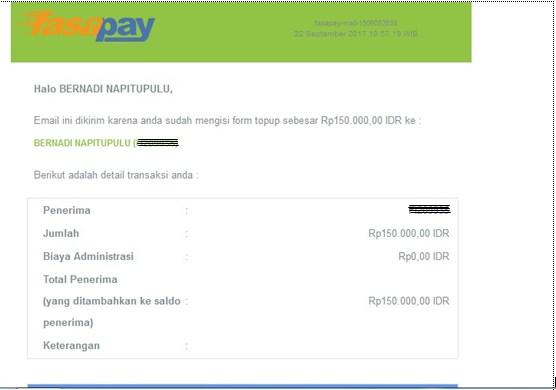 Cara Mengisi Saldo akun Fasapay.co.id