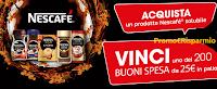 Logo Nescafè Solubile: gioca e vinci 200 buoni spesa Mercatò da 25€