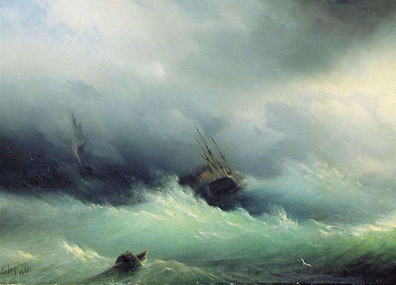 12-Stormy-Sea-1860-Ivan-K-Aivazovsky-Иван-К-Айвазовский-Paintings-of-the-Sea-from-1840-to-1900-www-designstack-co