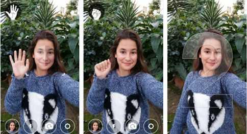 Cara Selfie Menggunakan Telapak Tangan di Android