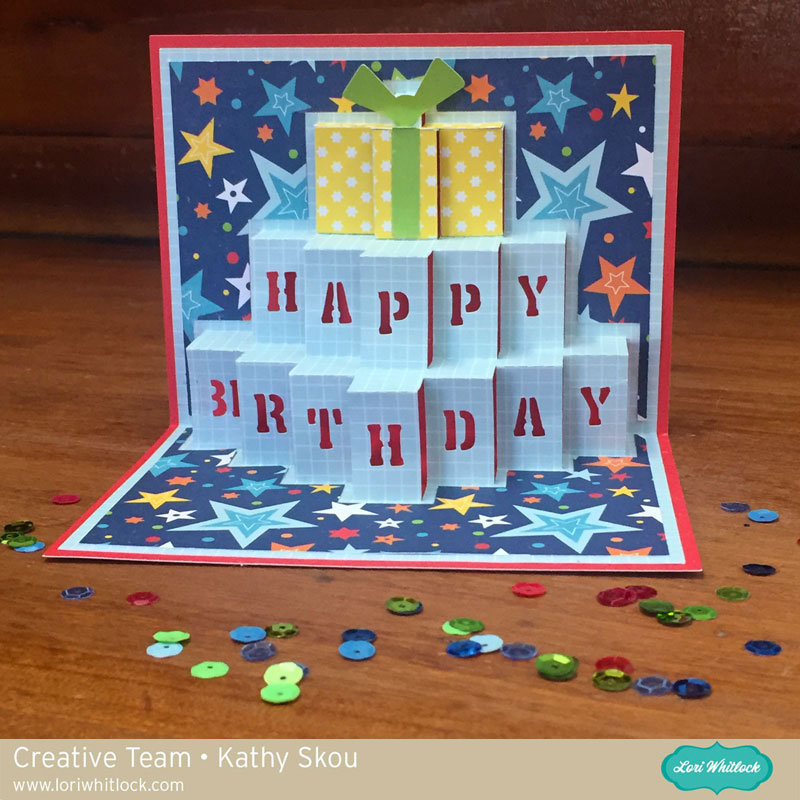 My Happy Place Lori Whitlock Birthday Pop Up Card