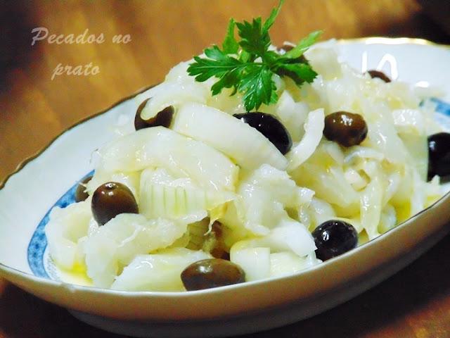 Salada punheta de bacalhau