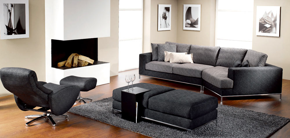 black living room chair decoraci 243 n minimalista y contempor 225 nea decoraci 243 n de 12688