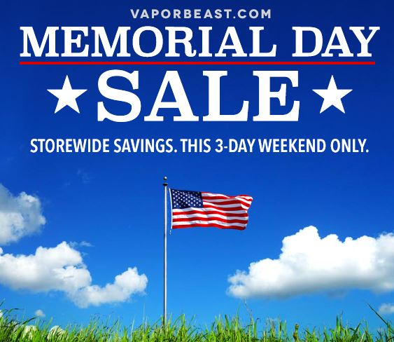 VAPORBEAST MEMORIAL SALE - 15% OFF SITE WIDE AND CLEARANCE | Vaping