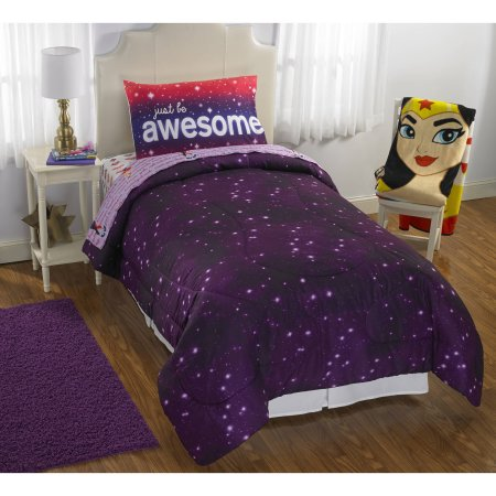 Vintage DC Super Hero Girls have released it us own bedding assortment throw blankets forter sheet sets and character pillow pals etc