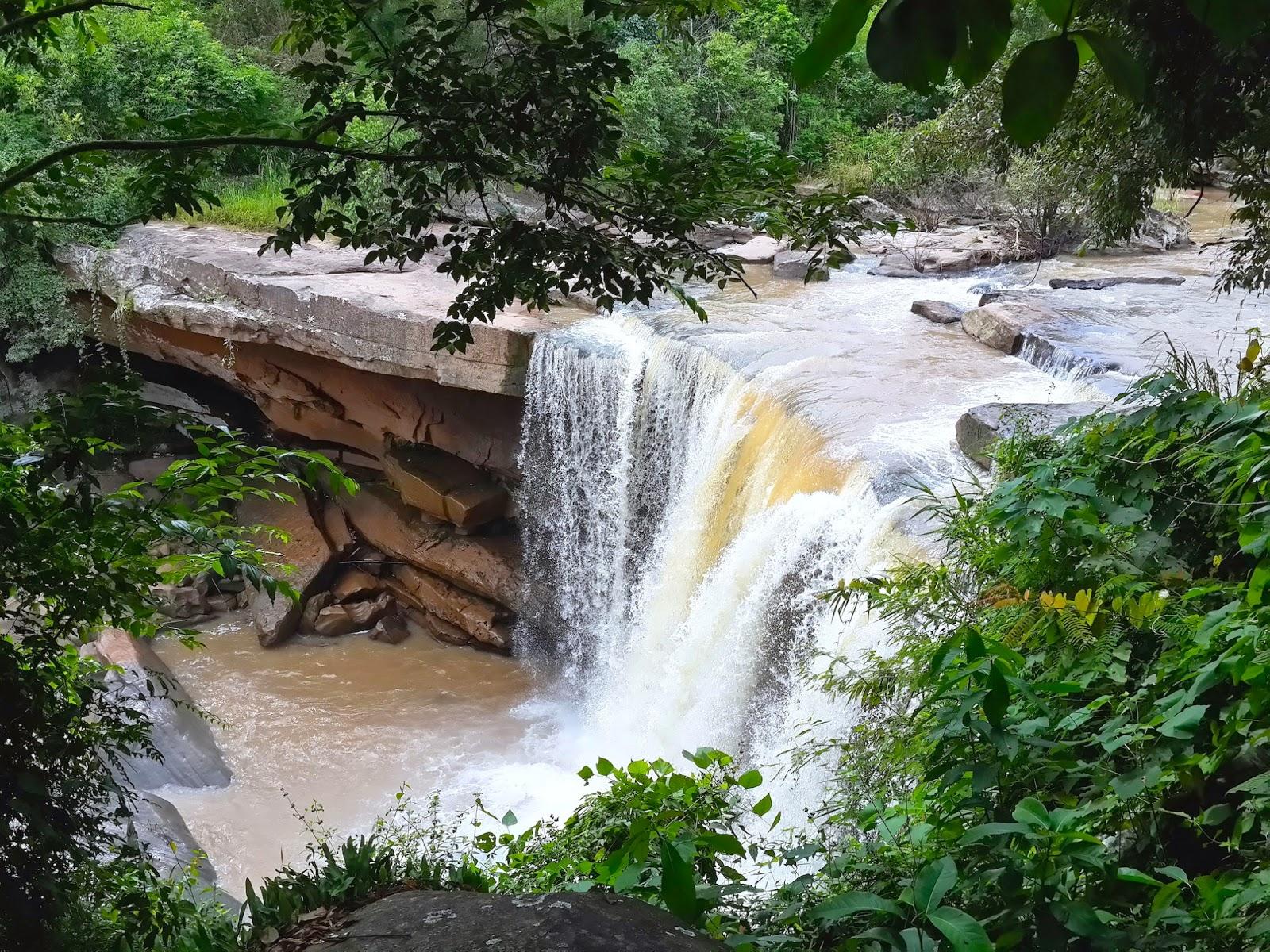 Waterfall near Phu Reua in Loei - North-East Thailand