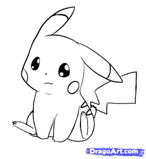 7 Langkah Menggambar Pikachu