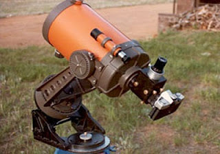 "Image of Celestron 8"" Telescope Prime Focus Astrophotography  Setup Circa 1995 - Photograph by Jefferey R. Charles"