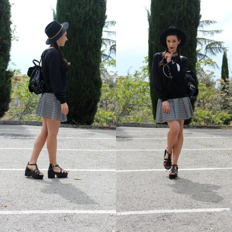 yin yang hoodie, tumblr, grunge, platforms
