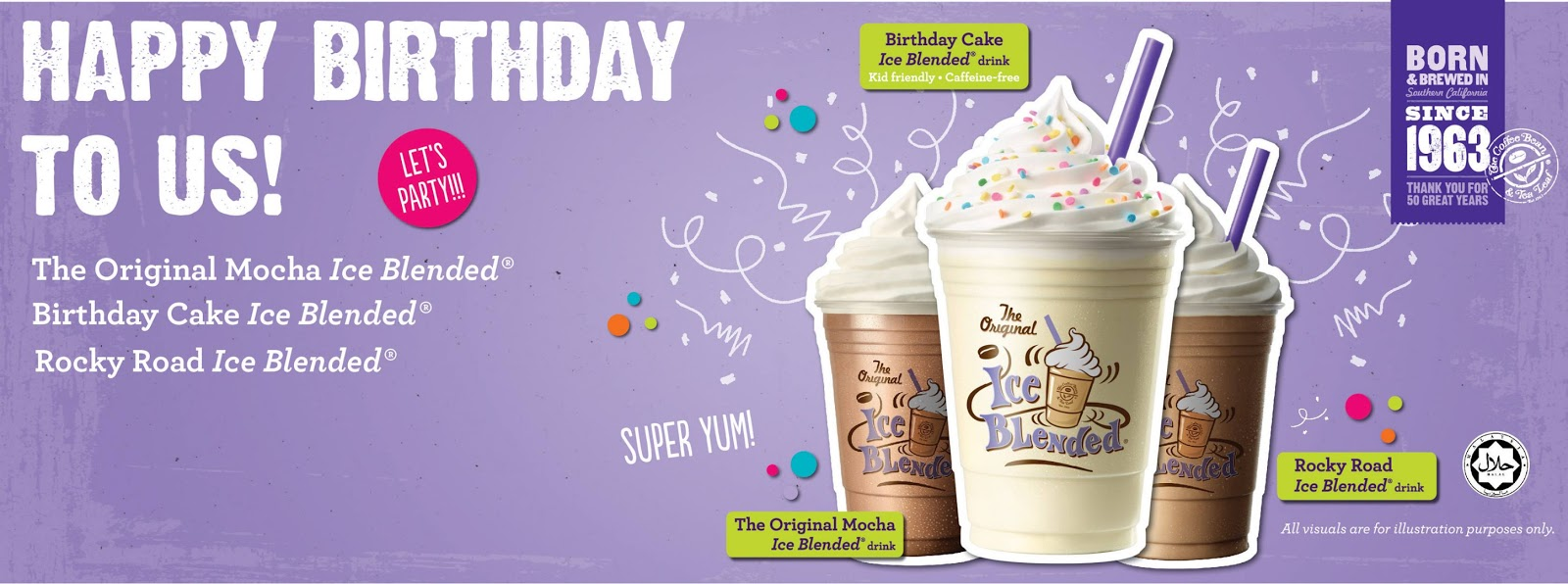 The Coffee Bean 50th Birthday New Menu Special Drinks In