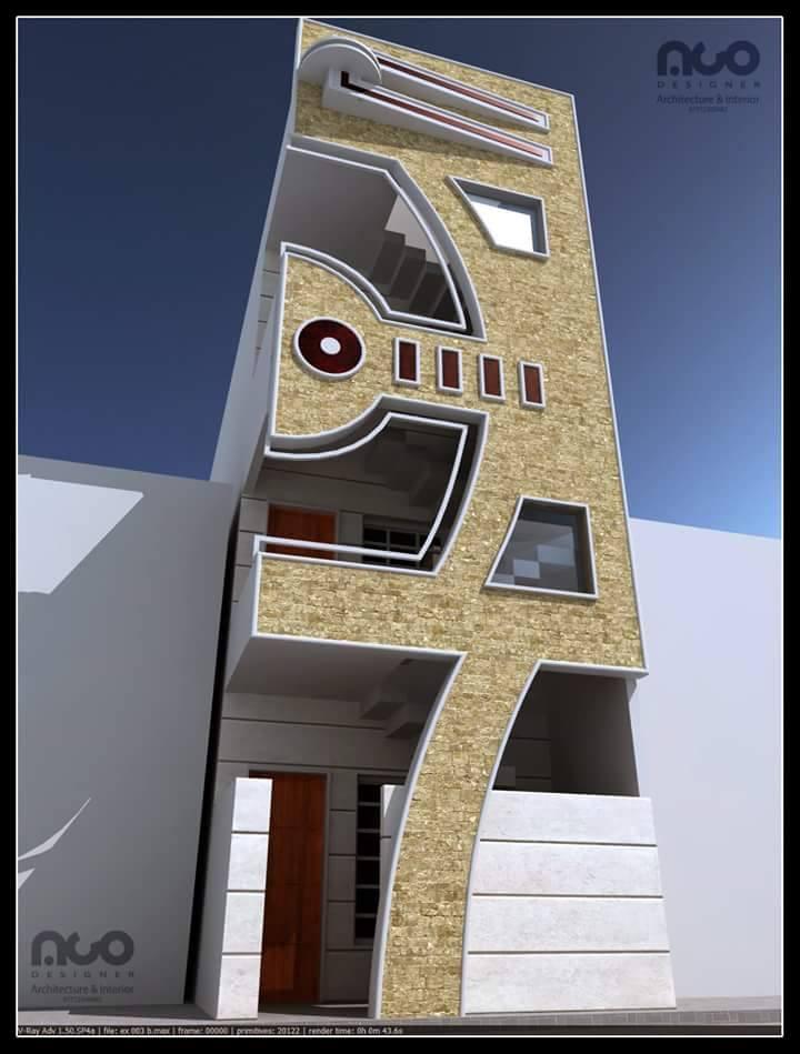 واجهات منازل بعرض 4 متر عمو ساكه