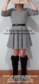 Vestido con falda circular estilo audrey hepburn