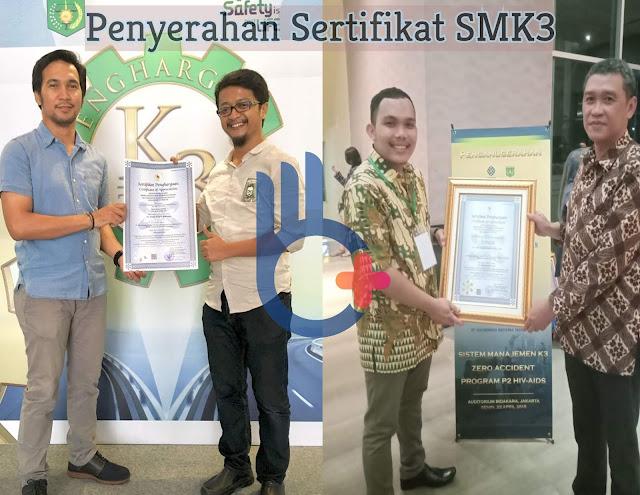 Jasa Sertifikasi SMK3, Sertifikasi SMK3, Sertifikat SMK3, SMK3, Penghargaan SMK3