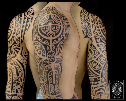 Marquesan Tattoo: Tatouage Polynesien-polynesian Tattoo: Marquesan Sleeve